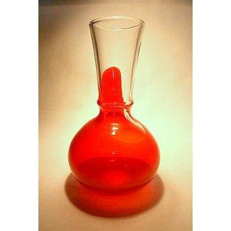 Siem van der Marel (Glaskunstenaar) Oranjevaasje