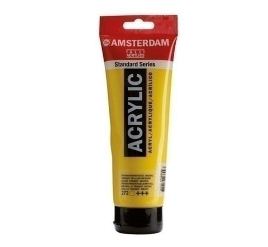 Amsterdam acrylverf 120 ml nr 272 transparantgeel