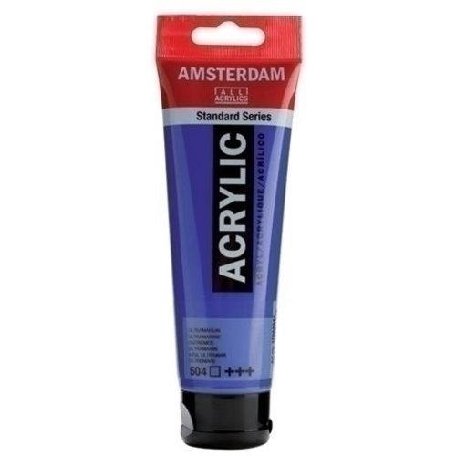 Talens  Amsterdam Acrylverf 120 ml nr 504 Ultramarijn