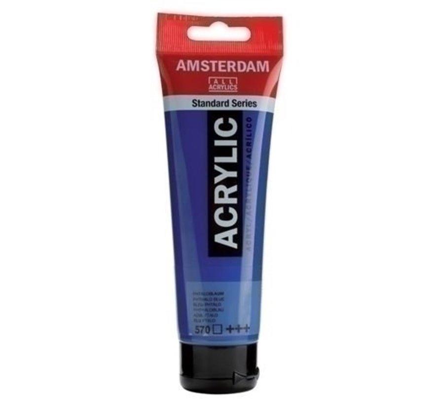 Amsterdam Acrylverf 120 ml nr 570 Phtaloblauw
