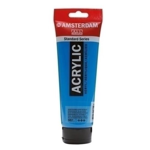 Talens  Amsterdam acrylverf 120 ml nr 582 mangaanblauw