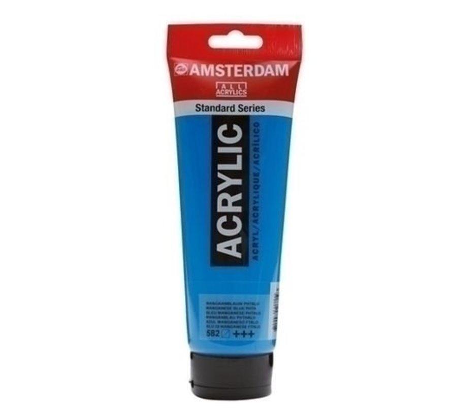 Amsterdam acrylverf 120 ml nr 582 mangaanblauw