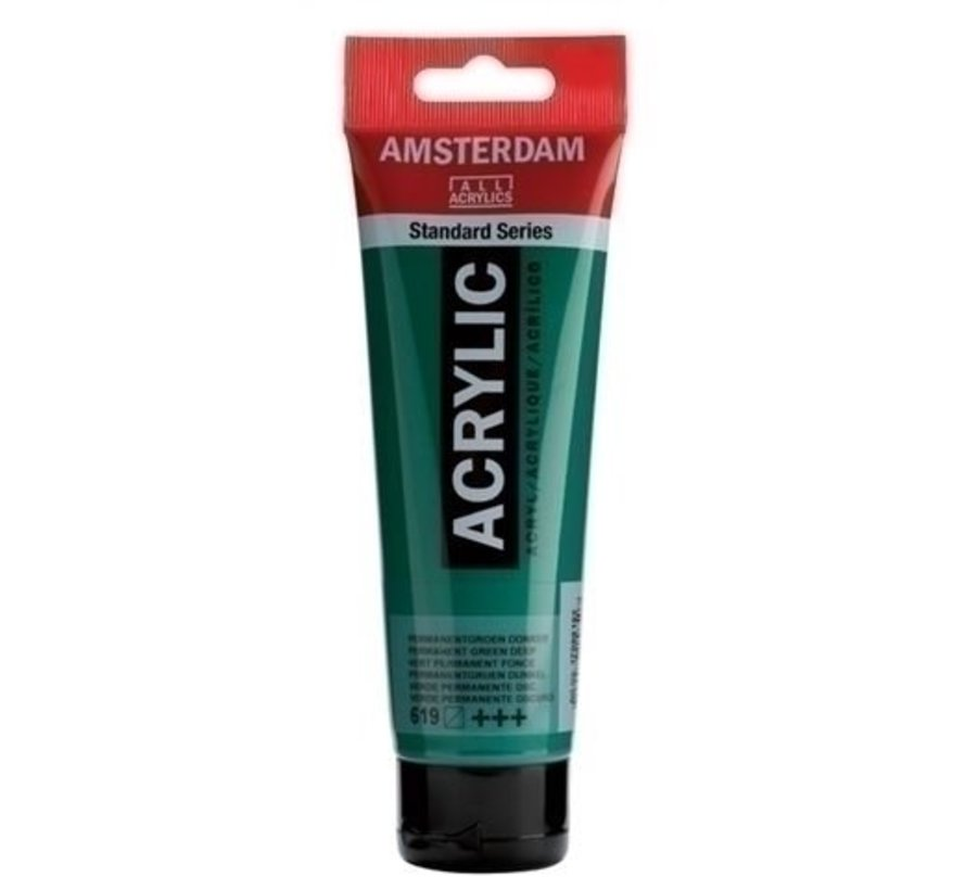 Amsterdam Acrylverf 120 ml nr 619 Permanentgroen D