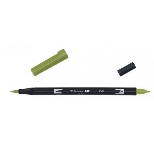 Tombow Tombow ABT dual brush pen dark olive ABT-158
