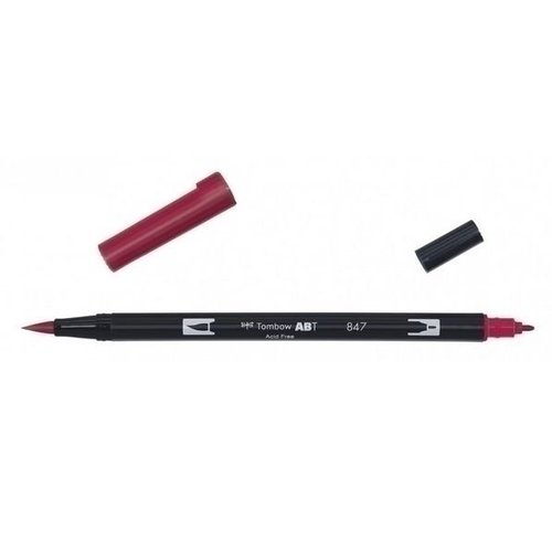 Tombow Tombow ABT dual brush pen crimson ABT-847