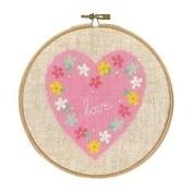 Vervaco Vervaco Telpakket met borduurring Love 0155663