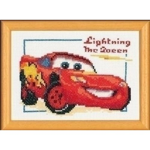Vervaco Vervaco borduurpakket Lightning McQueen 0014696
