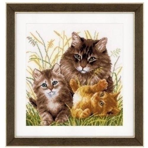 Vervaco Vervaco borduurpakket Kattenfamilie 0156114