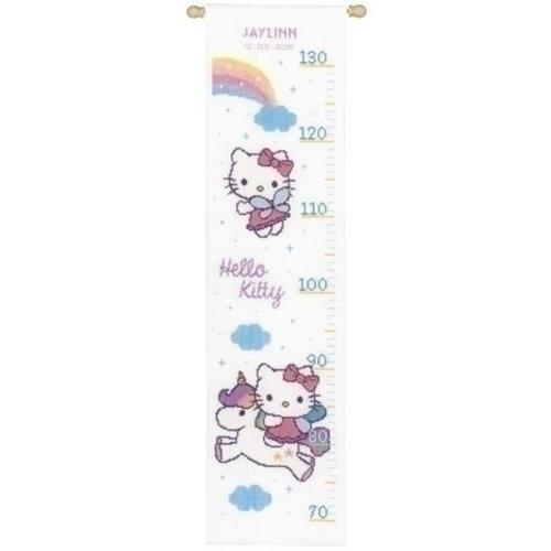 Vervaco Groeimeter Hello Kitty met Regenboog 0158349