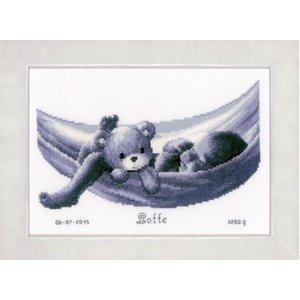 Vervaco Borduurpakket geboorte Baby in hangmat 0150906