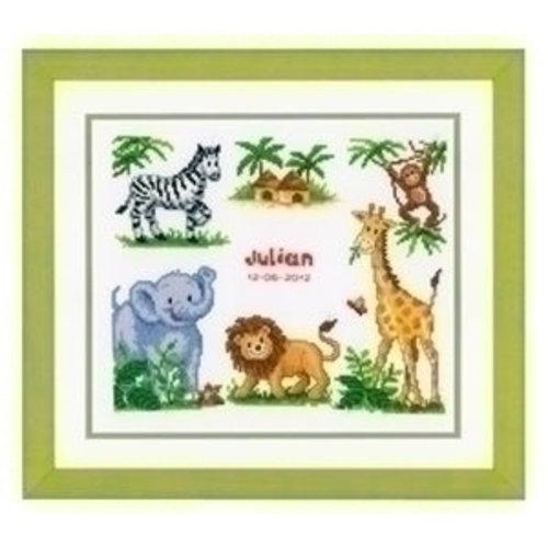 Vervaco Borduurpakket geboortetegel Julian 0011912