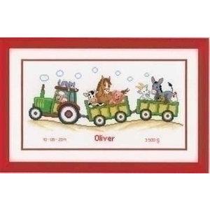 Vervaco Vervaco Borduurpakket treintje Olivier 0011906