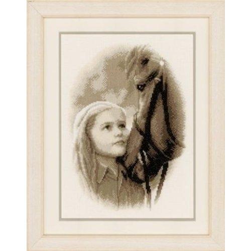 Vervaco Borduurpakket meisje met paard 0148104
