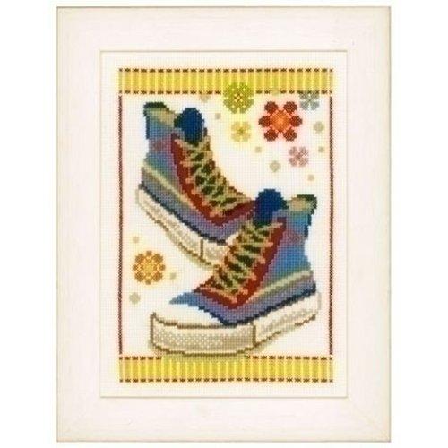 Vervaco Borduurpakket Blauwe Sportschoenen 0149911