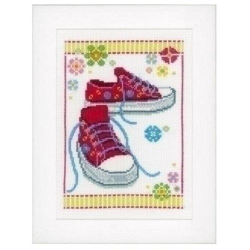 Vervaco Borduurpakket Roze Sportschoenen 0149909