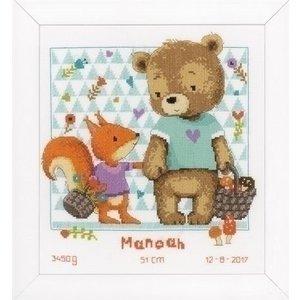 Vervaco Vervaco geboortepakket beer en eekhoorn 0162670