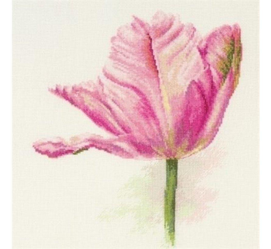 Alisa borduurpakket Tulips Light Pink S2-42