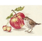 Alisa borduurpakket Bird and an Apple S5-22