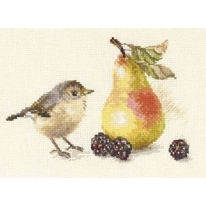 Alisa Alisa Borduurpakket Bird and a Pear S5-23