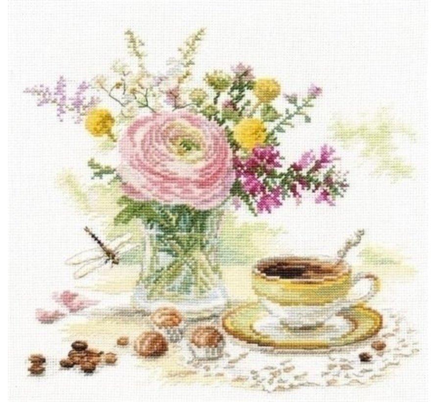 Alisa borduurpakket Morning Coffee S5-18