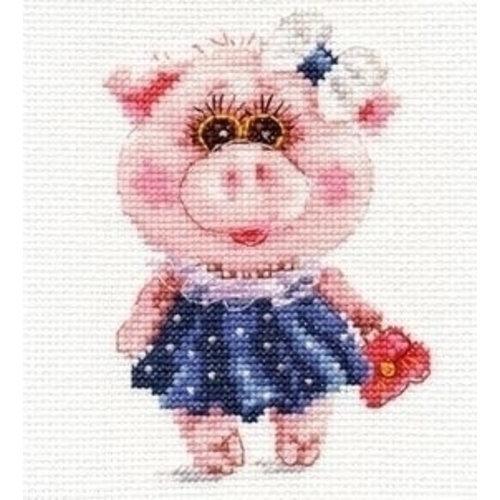 Alisa Alisa borduurpakket Piggy Tosya al-00-183