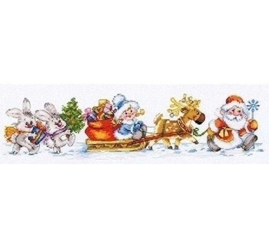 Alisa borduurpakket Happy New Year al-00-186