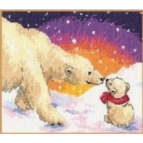 Alisa Alisa borduurpakket Witte Beren S0-26