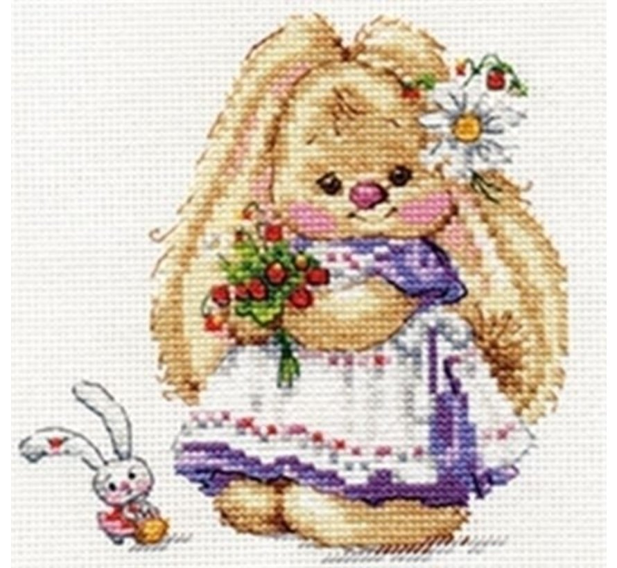 Alisa borduurpakket Zaika Mi Strawberry S0-179
