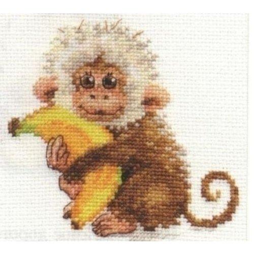 Alisa Alisa Borduurpakket Monkey S0-127