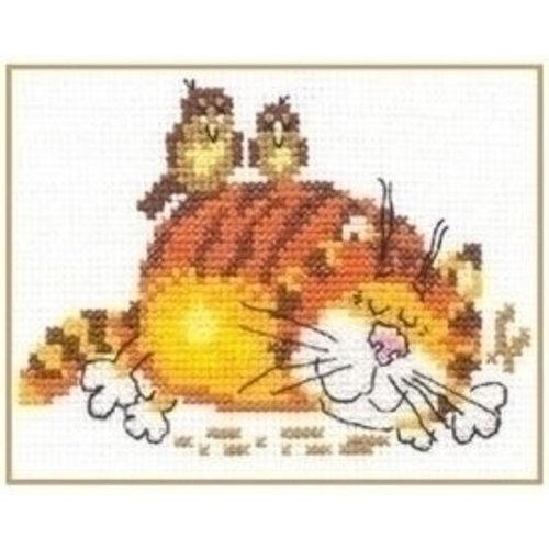 Alisa Alisa borduurpakket Lasy Cat S0-01