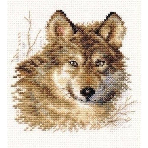 Alisa Alisa borduurpakket Wolf 01-027