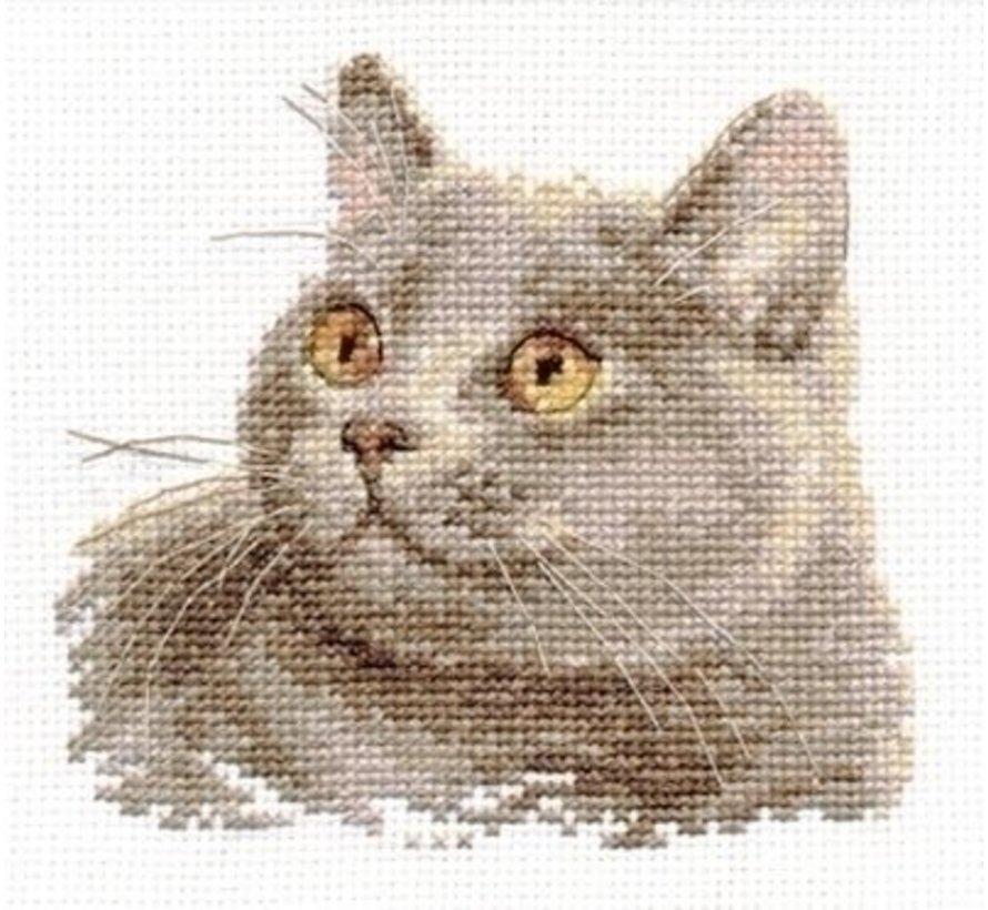 Alisa borduurpakket British Cat al-00-134