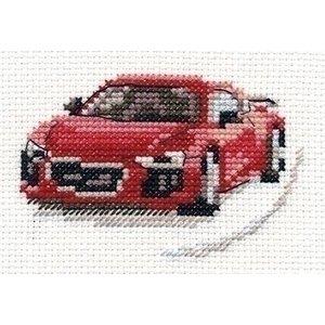 Alisa Alisa borduurpakket red sportscar al-00-157