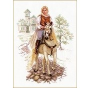 Alisa Young man on a white horse al-04-017