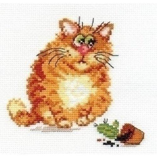 Alisa Alisa borduurpakket Mischievous cat 00-068