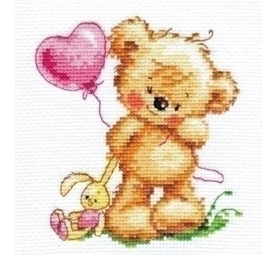Alisa borduurpakket Lovely Teddy Bear 00-070