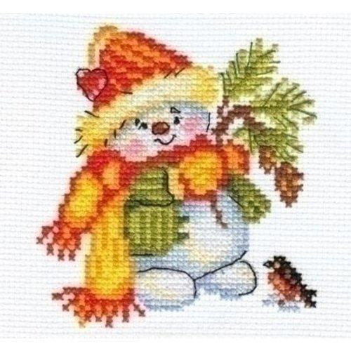 Alisa Alisa borduurpakket Little Snowman 00-059