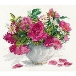 Alisa Alisa Blooming garden Roses and Daisies 02-025