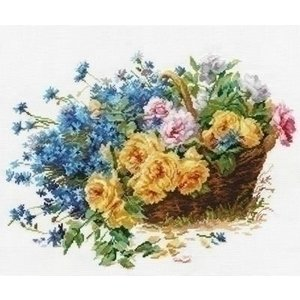 Alisa Alisa borduurpakket Roses and Cornflowers 02-027