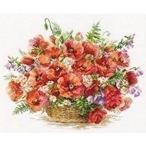 Alisa Alisa Basket of Poppies 02-028
