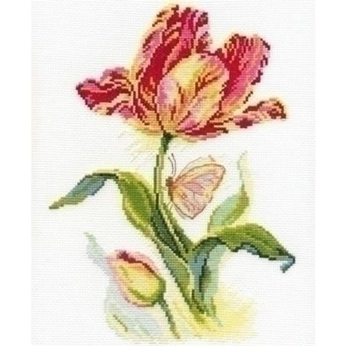 Alisa Alisa borduurpakket Tulip and Butterfly 02-014