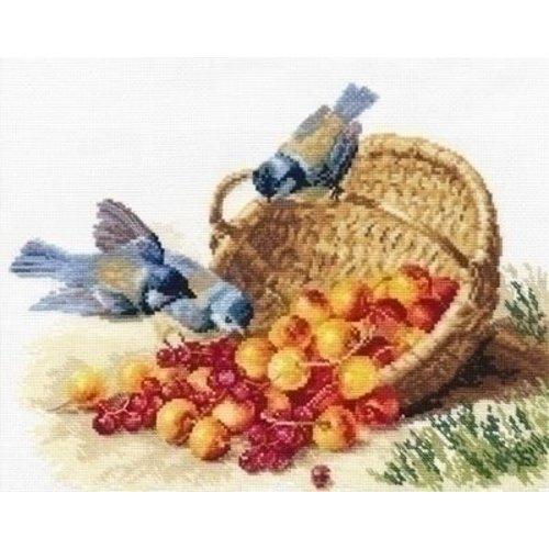 Alisa Alisa Chickadees and Sweet Cherries 01-014
