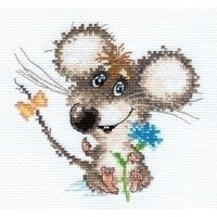 Alisa borduurpakket Enamored Baby Mouse 00-077