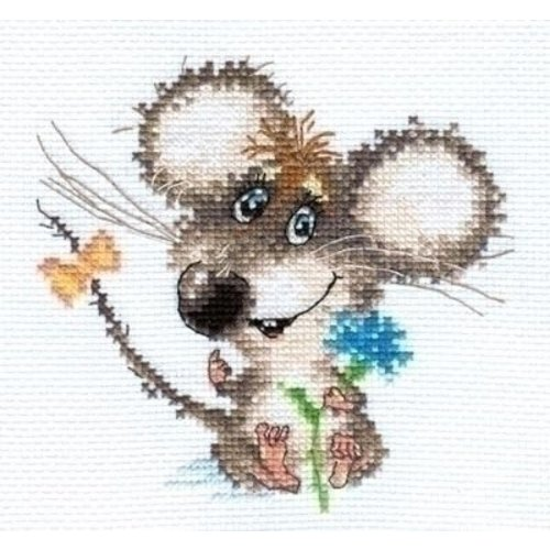 Alisa Alisa borduurpakket Enamored Baby Mouse 00-077