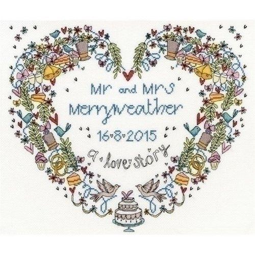 Bothy Threads Bothy Threads Wedding Heart XWS10