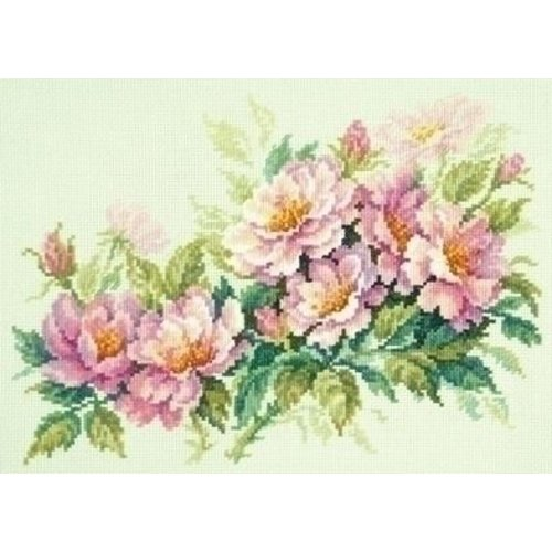 Chudo Igla Borduurpakket Dog-rose flowers ci-040-074