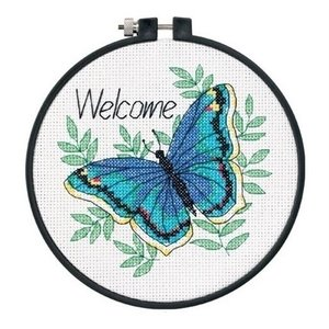 Dimensions Dimensions borduurpakket Welcome Butterfly 0174330
