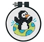 Dimensions borduurpakket Playful Penguin 0174339