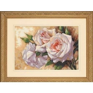 Dimensions Dimensions borduurpakket White Roses 0174369
