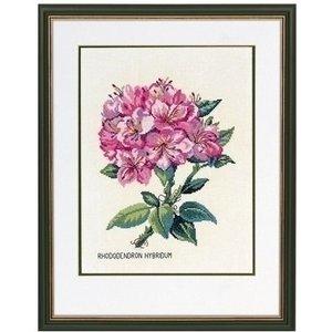 Eva Rosenstand Borduurpakket Roze Rododendron 12-895